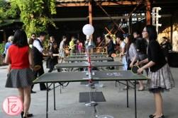 ping pong station at sickkids gala 2015