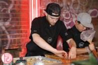 food dudes chef making sushi