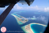 bird's eye view from trans maldivian seaplane