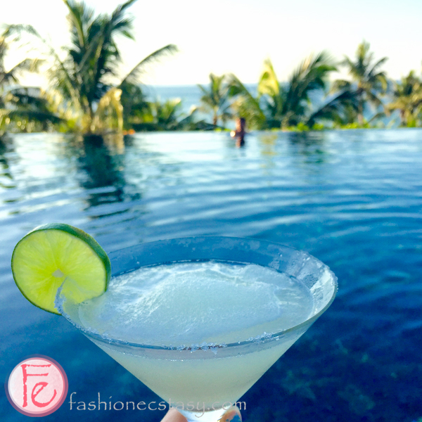frozen margarita at InterContinental's infinity pool