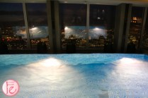 Shangri-La Hotel London at The Shard pool with a view