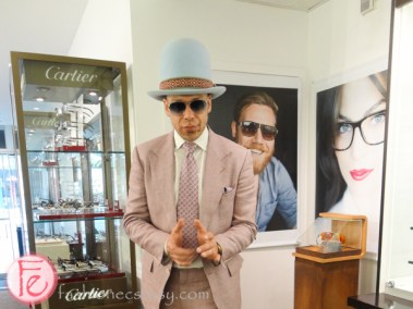 Ralph Anderl at ic! berlin trunk show at Minh Chau Optical