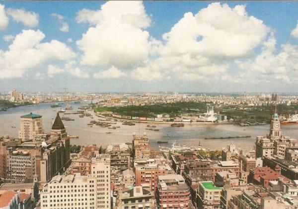 shanghai skyline 20 years ago