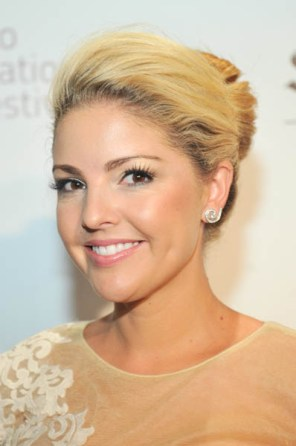 Ainsley Kerr wearing Birks earrings