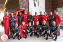 breitling jet team and canadian snowbirds at birks x breitling chronomat 44 jet team watch launch party at shangrila