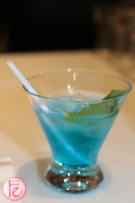blue cocktail at samsung home innovation showroom launch