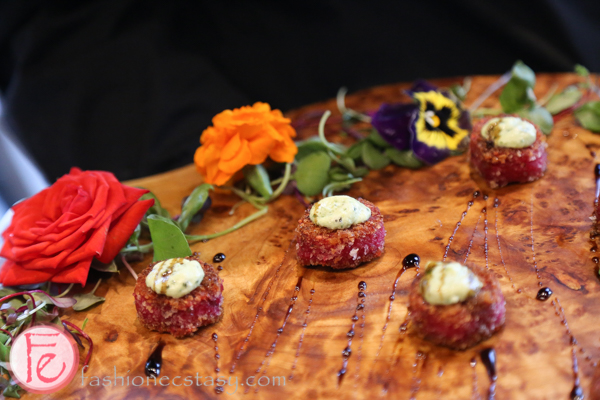 red beet risotto balls by food dudes at early mercy