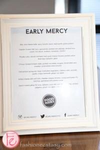 early mercy menu