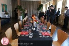 dinner table set up grand marnier cuvée collection tasting