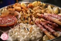 prosciutto and mozzarella cheese platter