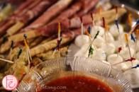 prosciutto sticks and mozzarella cheese platter