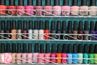 nail polish rack at my salon on richmond