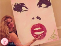 Jessica Gorlicky, live painter at tea and tiaras