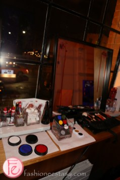 face painting station at hush hush 2015 party