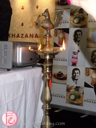 khazana restaurant ceremonial candles burn