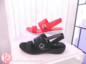 nine west orange and black sandals