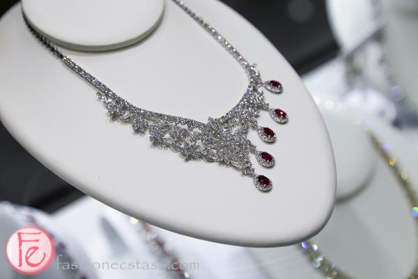ruby diamond bridal necklace trend 2016