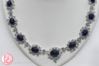 blue sapphire diamond necklace samuel kleinberg jewellers 2016 bridal jewellery collection trend preview