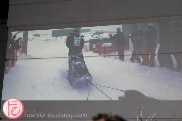 canada goose out there film projected on wall