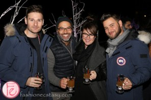 harry rosen canada goose launch party on the rooftop