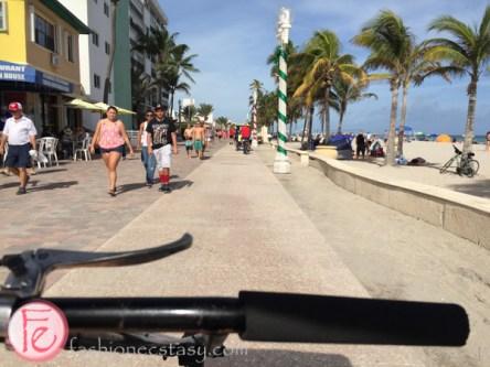 biking in Hollywood Beach, Florida