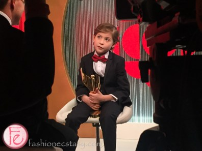 Jacob Tremblay (Canadian Screen Awards 2016 Best Performance by an Acto in a Leading Role winner) being interviewed at CBC
