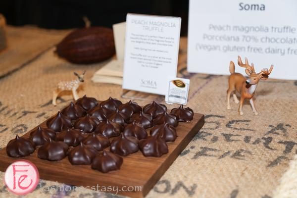 Cynthia Leung and David Castellan/ Soma - peach magnolia truffle porcelana 70% chocolate (vegan, gluten free and dairy free)