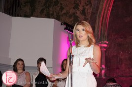 Michelle Dube black and white with a touch of pink gala pink pearl foundation