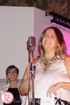 Elise Gasbarrino Black and white with a touch of pink gala pink pearl foundation