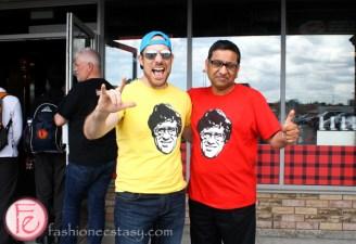 Ryan Smolken and Imran Syed smoke's food court
