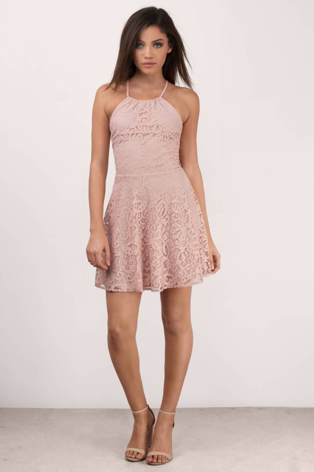 "Tobi's ""SWEET DESIRE ROSE LACE SKATER DRESS""-front"