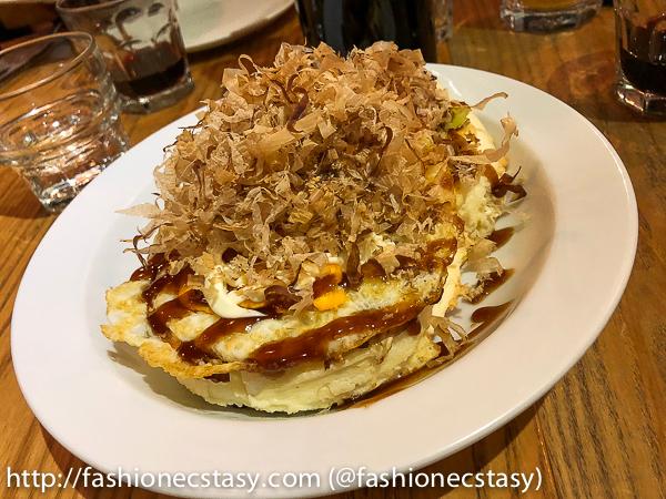 大阪燒風鬆餅 Okonimiyaki pancakes Jamling Cafe Taipei