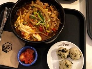 Caffe Bene 韓式招牌拉麵 (spicy Korean ramen)