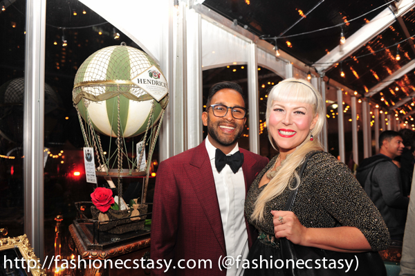 Alvin Ramchurn And Beth-Anne Perry at Hendrick's Gin's L.E.V.I.T.A.T.R.E. Hot Air Balloon Nuit Blanche Toronto 2018