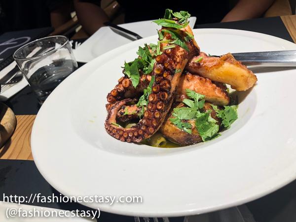 "橄欖油香烤章魚 Polvo a Lagareiro (Octopus ""Lagareiro"" Style) $780"