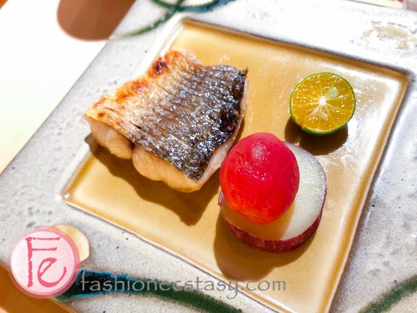 烤物: 鯃魚搭 + 梅子蕃茄 + 栗子地瓜。