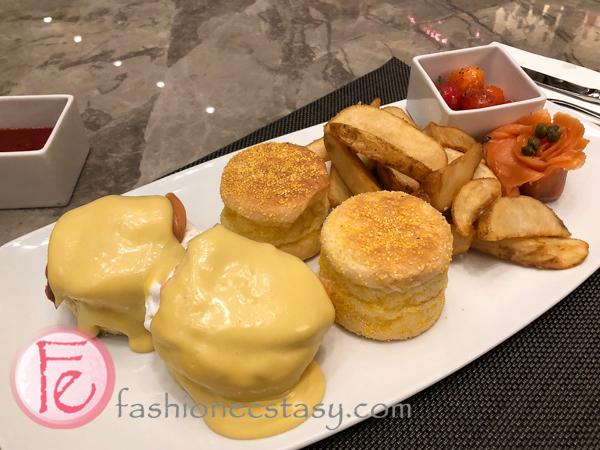 班尼狄克蛋早午餐台北六福萬怡酒店 (Eggs Benedict set at Courtyard Marriott Taipei)