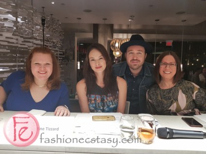 The Judges- Annabelle Waugh (blue dress) Christine Tizzard, Jennifer Emilson, Dennis Prescott