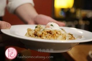 風緹娜乳酪肉醬燉飯佐63度溫泉蛋 (Risotto Ragù di Porcini alla Fontina)