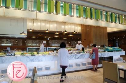敘日餐廳的自助吧 (Sunrise Restaurant Courtyard Marriott Taipei - buffet