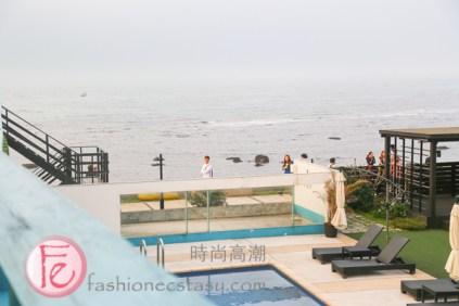 欣藍舍北直通淺水灣 (Blue Villa Restaurant provides direct access to Qianshui Bay's beach)