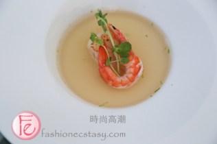 欣藍舍精選套餐:日式甘貝鮮蝦海鮮湯 (Blue Villa set menu: Japanese seafood soup)