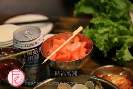"""米炭火燒肉「梅子蘿蔔酸酸甜甜」 """"Sweet and Sour Plum radish"""""""