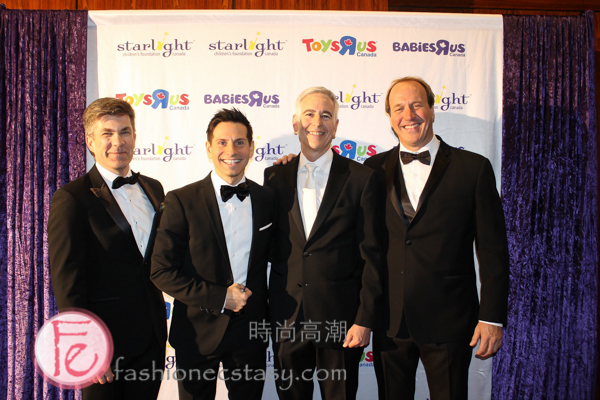 President of the Starlight Board of Directors, Patrick Lefrançois, Rick Campanelli, Starlight Canada founder, Ron Levy & Brian Bringolf