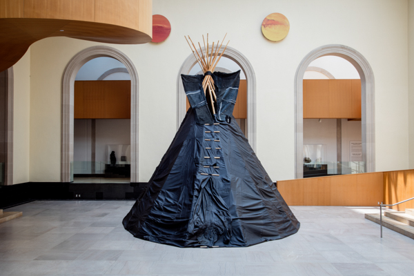Brian Jungen, Furniture Sculpture, 2006, installation view at the Art Gallery of Ontario, 2019