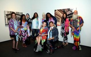Designs by Michele Taras Art Apparel on diverse models (Photo credit: Malia Indigo)