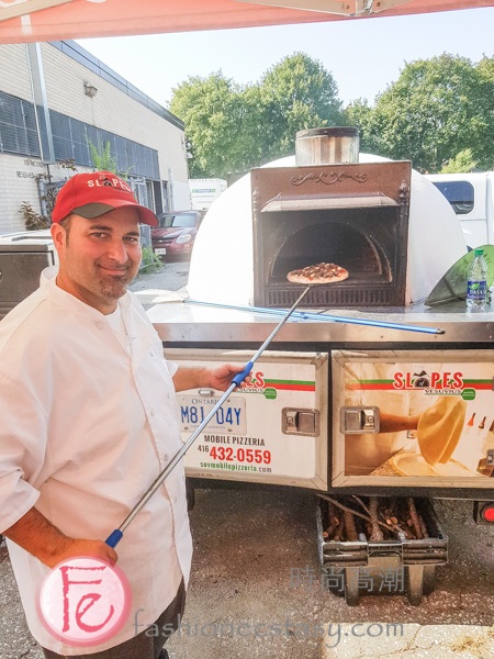 freshly baked pizza at 3rd Annual Thistletown Chef's Harvest Party 2019