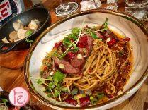 麻辣牛肉麵 ($450)/ Italian Spicy Beef Noodle ($450)