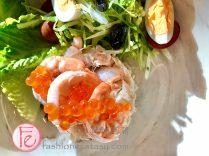 鮮蝦蟹肉鮭魚卵沙拉 / Shrimp Salad with Crab Meat & Salmon Roe