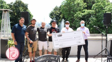 $75,750 cheque made to Louis de Melo, Chief Executive Officer of Sinai Health Foundation